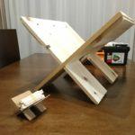 薪置台をマガジンラックを参考にDIYしてみた!端材使って製作費0円☆