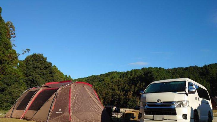 福岡県の奥八女焚火の森キャンプフィールドでファミリーキャンプ(10/10~11)2日目